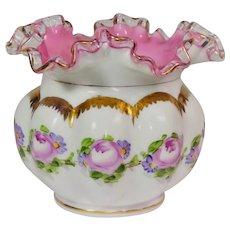 Fenton glass Rosebud hand painted vase