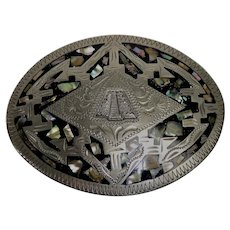 Southwest style Alpaca Mexico belt buckle