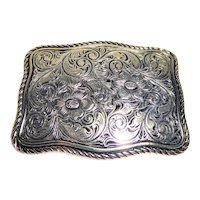 Southwest style gold tone cowgirl belt buckle