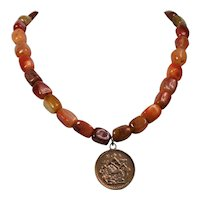 Natural Carnelian necklace