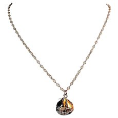 Sail boat charm necklace
