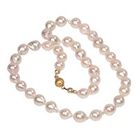 Akoya cultured saltwater pearl necklace
