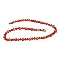 Cherry Brand glass bead necklace