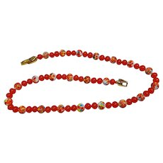 Cherry Brand glass bead necklace