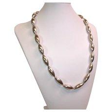 Vintage sterling silver Navajo bead necklace