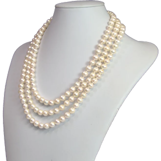 Freshwater cultured pearl Opera Length necklace