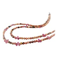 Pink Tourmaline and Rhodochrosite bead necklace