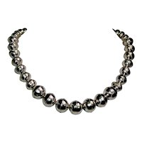 "Native American ""Navajo Pearl"" sterling silver necklace"