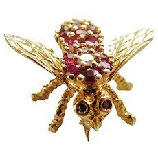 Herbert Rosenthal ruby and diamond bee pin