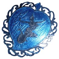 Vintage sterling silver Siam lightning goddess brooch