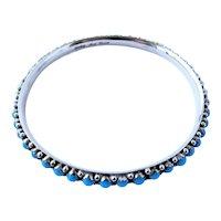 Native American signed Mark Yazzie, Navajo, Turquoise bracelet