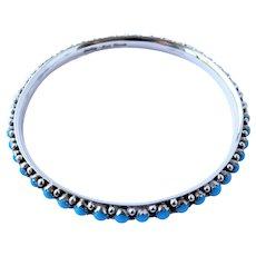 Signed Mark Yazzie Navajo Turquoise bracelet