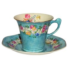 Fenton James Kent Blue Capri tea cup and saucer