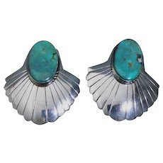 Sterling silver and American Turquoise earrings