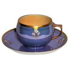 Bavarian china Luster ware teacup and saucer