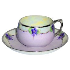 Porcelain teacup and saucer from the early 20th century