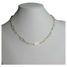 18 inch Italian gold over sterling silver chain necklace hallmarked Danecraft, Italy