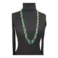 Cherry Brand glass bead continuous strand necklace