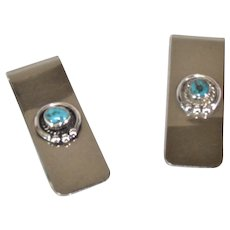 Money clips in sterling silver and turquoise