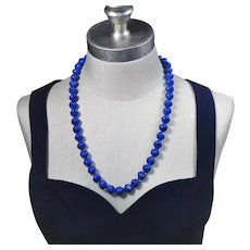 Contemporary necklace made with vintage glass beads