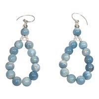 Larimar Caribbean blue earrings