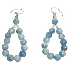 Larimar Caribbean blue earrings