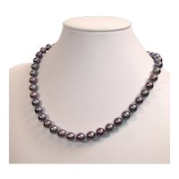 Vintage cultured freshwater pearl necklace