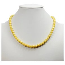 Golden Akoya salt water pearl necklace