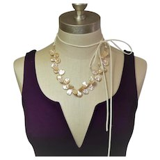 Freshwater petal pearl necklace