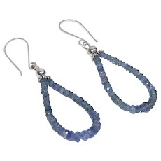 Sapphire bead earrings