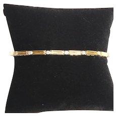 Vintage 14 K gold and diamond bracelet