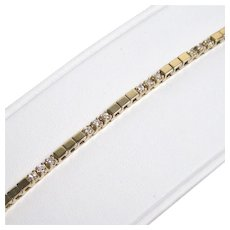 Vintage diamond and 14 K gold bracelet