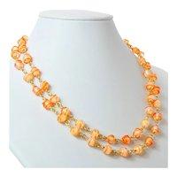 "Rare glass ""Thread"" beads"