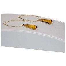 Vintage glass pendant earrings