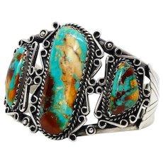 Native American, Zuni, signed cuff bracelet