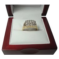 14K Art Deco Style .60 cttw Diamond Ring
