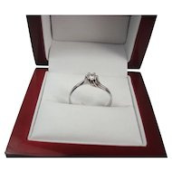 18K Gold .25 ct Diamond Solitaire