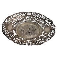 935 Sterling Silver German Bread Basket Bowl