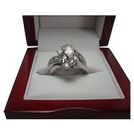 14K 1.35 cttw Marquise Diamond Ring Set