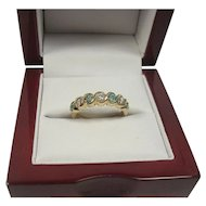 14K Diamond and Tourmaline Band