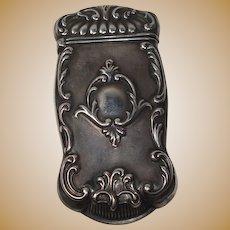 Gorham Art Nouveau Sterling Match Safe or Vesta