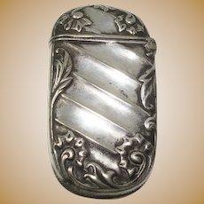 Silver plate Art Nouveau Match Safe or Vesta