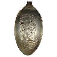 Sterling Garden of the Gods Columbine Colorado Souvenir Spoon