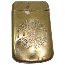 Pabst Beer Milwaukee Match Safe or Vesta