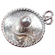 Cute Vintage Sterling Sombrero Charm