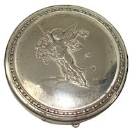 Roger & Gallet Cherub Mirrored Vanity or Pill Box