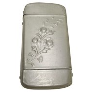 CLOSEOUT!!!  Simple Aluminum Floral Match Safe or Vesta