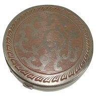 Vintage Fiancee Woodworth Mirrored Compact