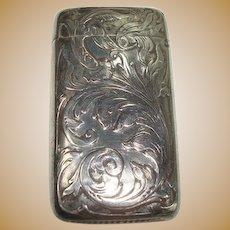 Blackinton Art Nouveau Sterling Match Safe or Vesta