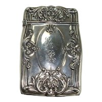 Reed and Barton Art Nouveau Match Safe or Vesta